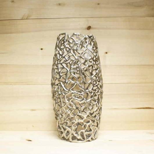 Jarron coral aluminio