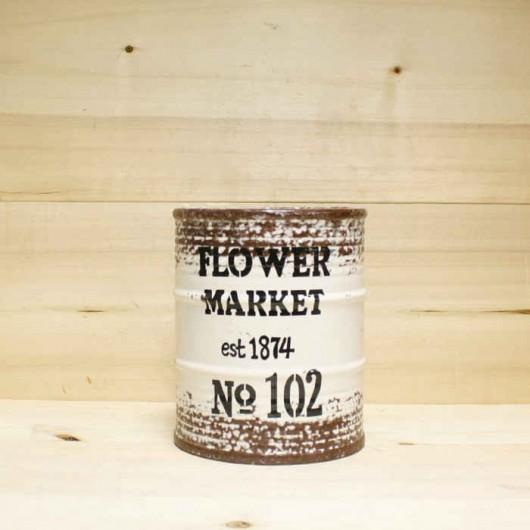 Barril Flower Market blanco