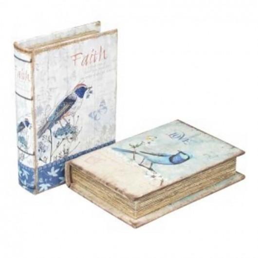 Caja Libro P?aro Love