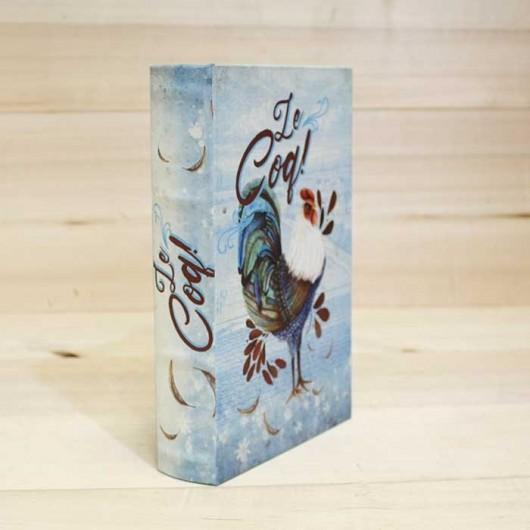 Caja Libro Gallo Azul