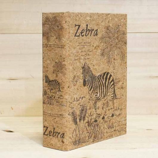 Caja Libro Zebra 18 cm