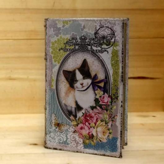Caja libro gatito 26cm