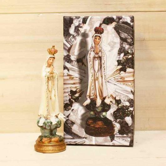 Virgen de Fátima 15 cm con...