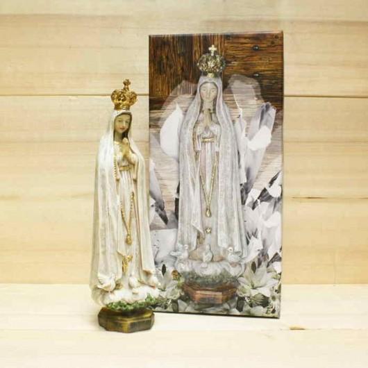 Virgen Fátima Madera Vieja...