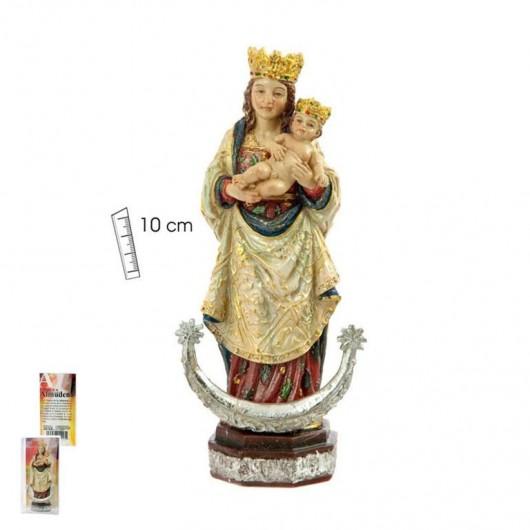 Virgen Almudena 10 cm caja PVC