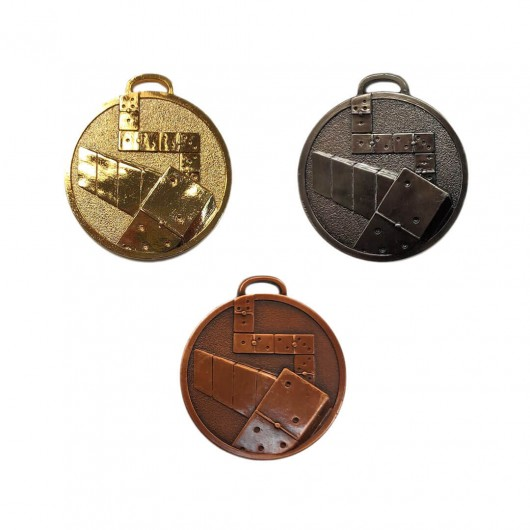 Pack 3 medallas Domino 6cm