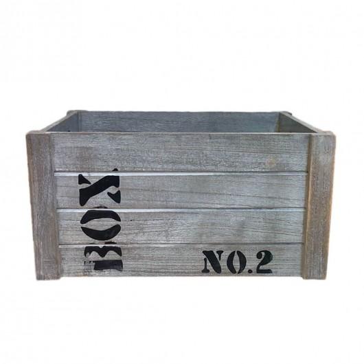 Caja Madera grisacea 36cm...