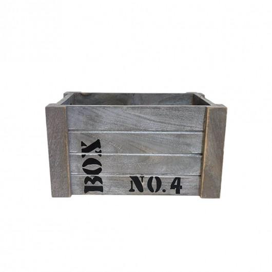 Caja Madera grisacea 26cm...
