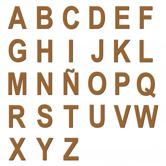Letra / Numero en madera 50...