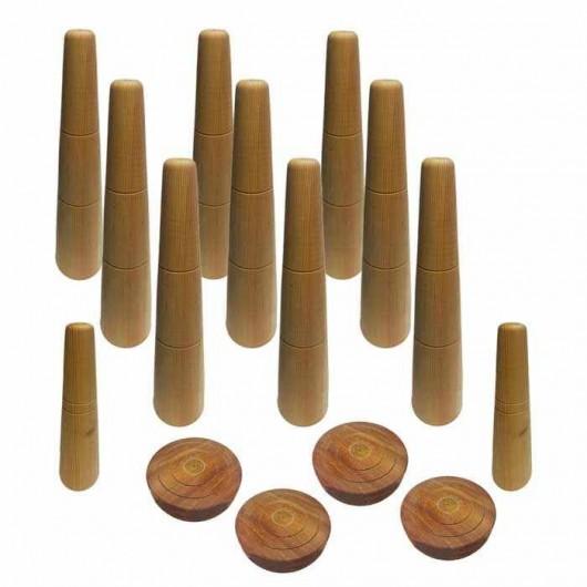 Juego Bolos Leoneses de madera