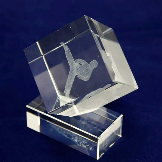 Trofeo Kárate cristal 3D