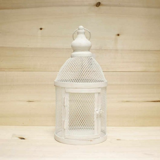 Farolillo blanco oxido 35cm