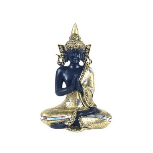 BUDA 15 cm. negro/oro