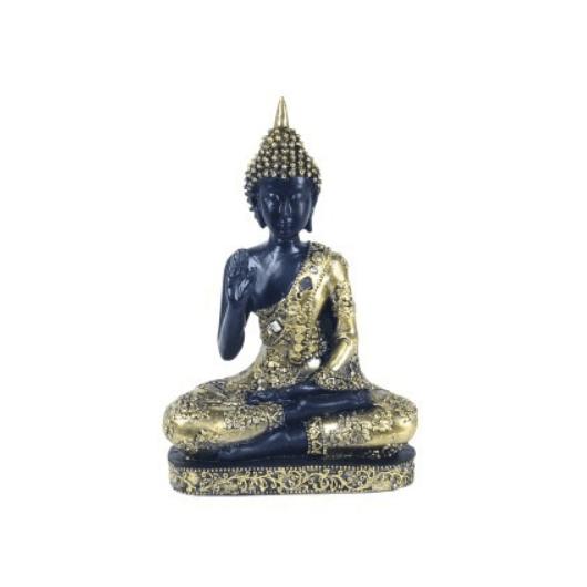 Buda 18,5 cm. negro/oro