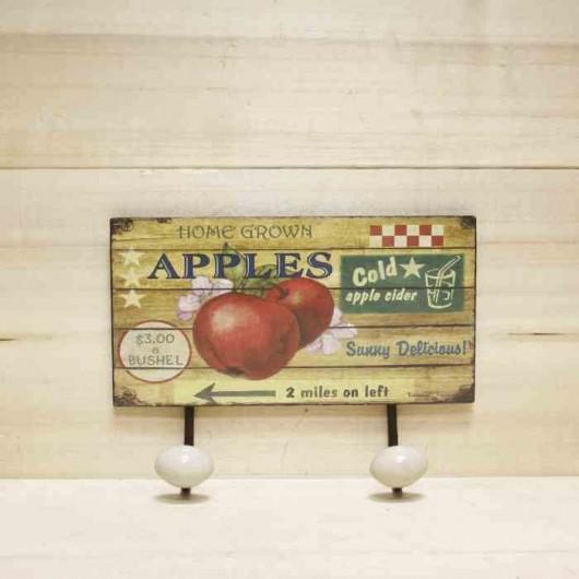 Perchero manzanas