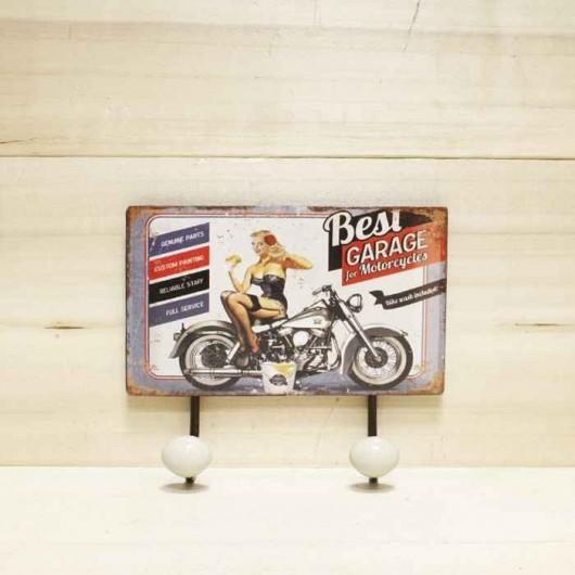 Percha moto chica pin-up