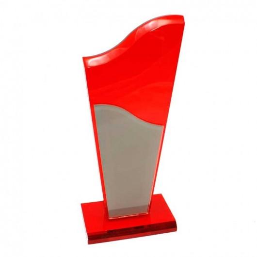 Trofeo Metacrilato - Rojo y...