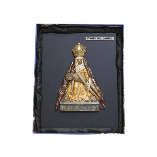 Virgen del Camino con caja...