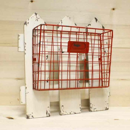 Guardacartas valla rojo
