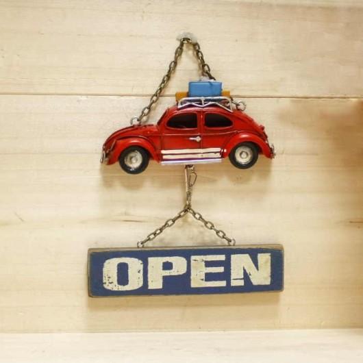 Cartel open/closed coche