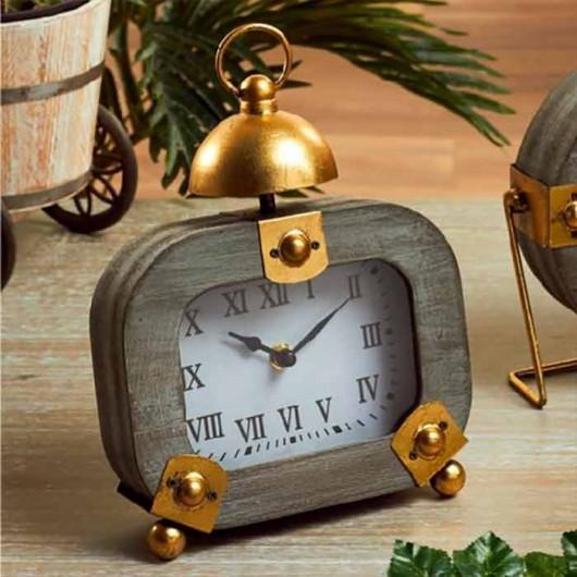 Reloj rectangular Gris y...