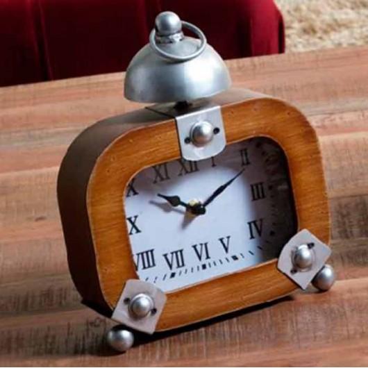 Reloj rectangular madera y...