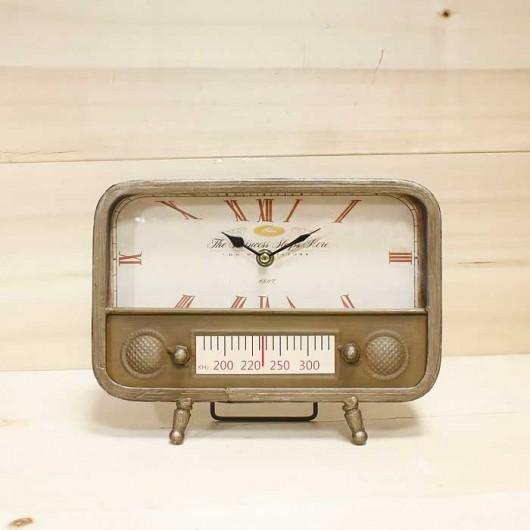 Reloj radio antigua bronce