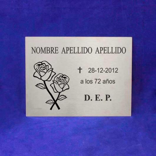 Placa Cementerio Acero -...