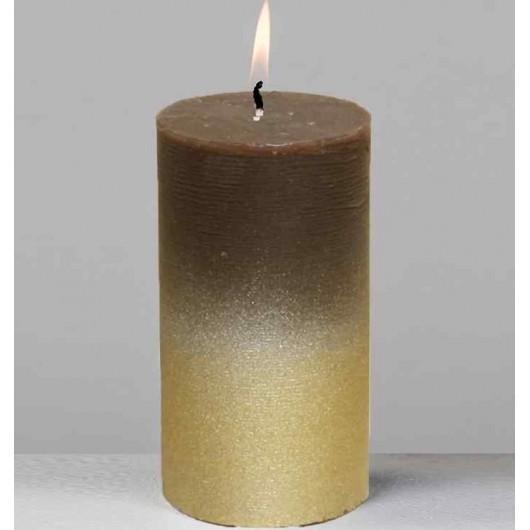 Cirio oro/marrón 13cm