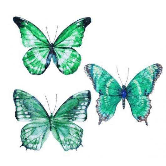 Mariposa 32*26 verdes