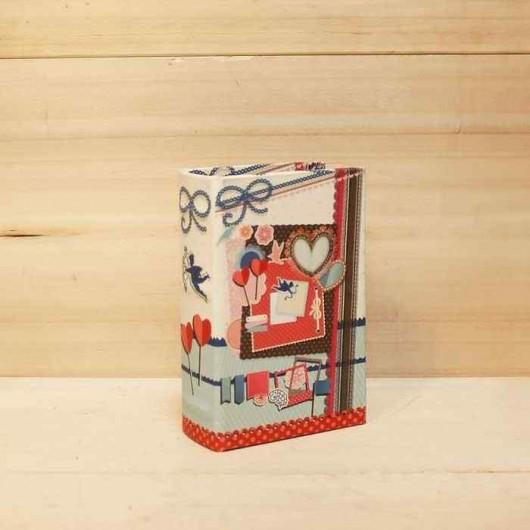 Caja libro scrapbooking 14 cm