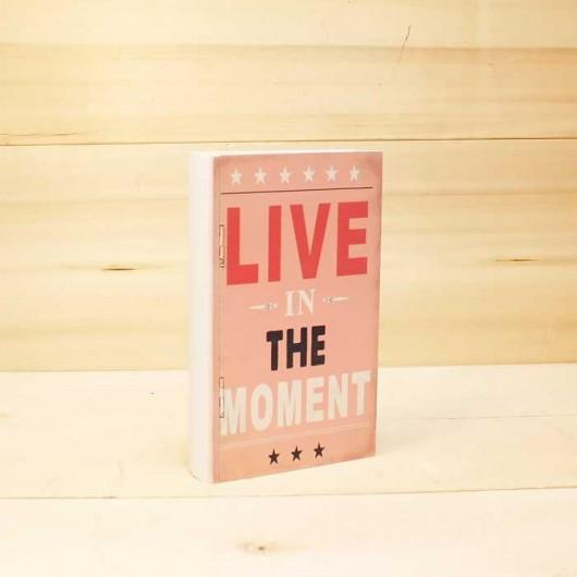 Caja libro Live the moment